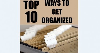 Top 10 ways to get organized