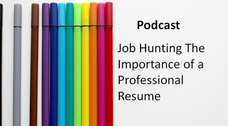 Job Hunting The Importance of a Professional Resume.