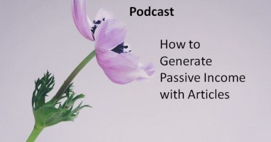 How to Generate Passive Income with Articles